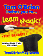 "Tom O'Brien is proud to release ""Learn Magic – Amazing Magic Tricks You Can Do"""